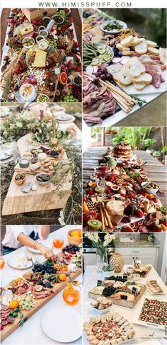 2020 Wedding Trends: 20 Charcuterie Board or Table Ideas – Page 2 – Hi Miss Puff ideas ideas for party You are in the right place about wedding catering ideas Wedding Appetizer Table, Wedding Buffet Food, Appetizers Table, Wedding Snacks, Wedding Appetizers, Wedding Reception Food, Wedding Catering, Wedding Table, Fall Appetizers
