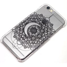 Crescent Moon Mandala Henna Phone Case iPhone 6, 6s, 6 Plus, 5, 5C, 5S, Galaxy S4, S5, S6, Note 4 iPhone 6 case by ClashCases on Etsy https://www.etsy.com/listing/224082884/crescent-moon-mandala-henna-phone-case