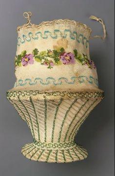 Drawstring bag German ca. 1810-1830