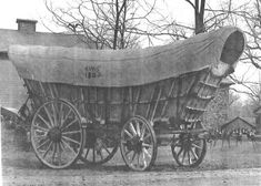 Conestoga Wagon. A fanciful nick-name was the 'Prairie Schooner'.  Late 1800s.