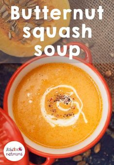 A simple butternut squash soup can really hit the spot at lunch times, or even at dinner with a delicious piece of bread. We've got an easy recipe so you can enjoy this meal all year around. Vegetarian Meals For Kids, Vegetarian Recipes Easy, Kids Meals, Soup Recipes, Easy Meals, Cooking Recipes, Butternut Squash Cubes, Piece Of Bread, Batch Cooking