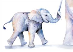 Voor deze mooie olifant kaart zijn geen bomen gekapt.  De kaarten zijn gemaakt van bladeren en stengels uit oogstafval en bedrukt met gifvrije bio inkt zonder verspilling van water Afmeting A6 Print van originele Veer illustratie geschilderd met aquarel, ecoline en / of Oost-Indische inkt.