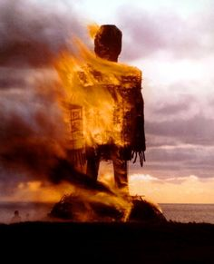 the wicker man. recommend this 1973 version. just odd/foreign enough for the creeps.