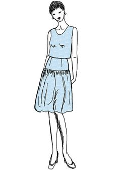 the outfit I'm planning to make in 'Pale blue registers' printed on cotton sateen.   http://www.spoonflower.com/fabric/787657