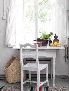 Tuvan ikkunastahäämöttää pohjalainen peltomaisema. | Kievarista kesäkodiksi | Koti ja keittiö