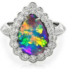 Black Opal & Diamond Ring                                                                                                                                                                                 More