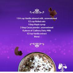 #Fairtrade Chocolate Breakfast Smoothie with plain Cadbury Dairy Milk chocolate pieces