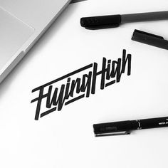 WEBSTA @ illesso_ - Flying High!  #customtype #customlettering #customtypography #goodtype #thedailytype #type #typism #typegang #typespot #typography #typematters #brushtype #handtype #handdrawn #handmadefont #letters #lettering #letteringdesign #pen #ink #illustration #illustrated #font #design #script #sketch #drawing #thefinelab #todaystype