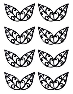Leaves Template/stencil for chocolate decorations