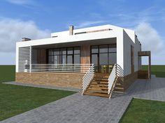 Эскиз загородного дома для одной семьи.