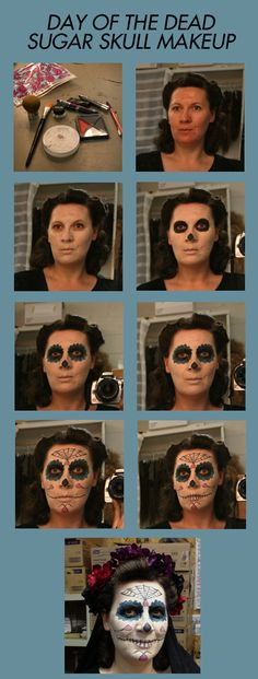 Day of the Dead Sugar Skull Makeup Tutorial