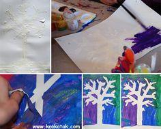 Zimní strom (vločka...)