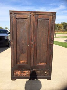 Antique Wardrobe. Has Its Flaws As It Is Very Old. 77 Inches Tall 48