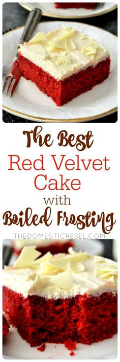 BEST Red Velvet Cake with Boiled Frosting I've EVER had. Moist, fluffy ...