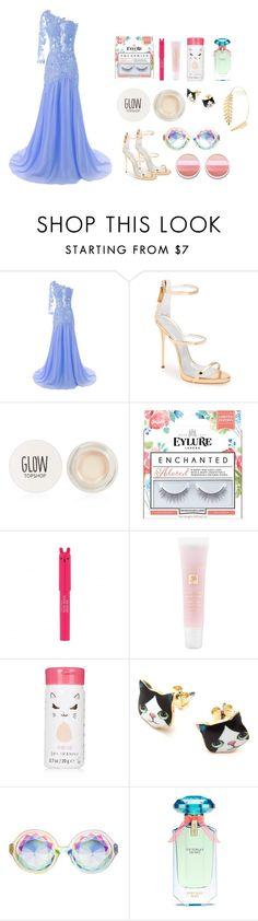 """Glamour day"" by malufashion on Polyvore featuring moda, Giuseppe Zanotti, Topshop, Lipsy, Lancôme, Victoria's Secret e Cara"