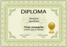 2 plantillas para títulos o diplomas de estudios o cursos en PSD