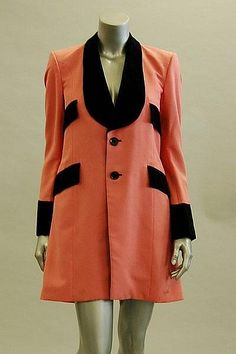 A rare Granny Takes a Trip shocking pink teddy boy jacket, early 1970s