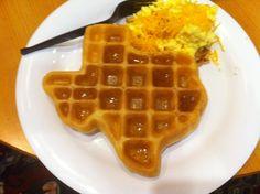 Texas Shaped Waffle, San Antonio-sven vik
