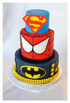 Superhero Cake swap superman for iron man