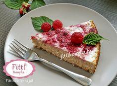 Fitti Konyha: Fitti málnaörvényes túrótorta recept (liszt nélkül)