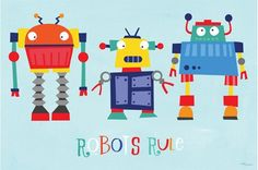 Robots Rule Canvas Reproduction