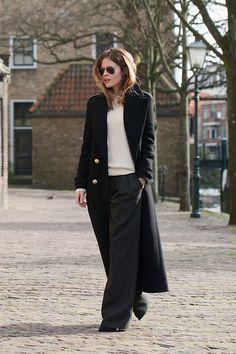 Zara Coat, Ray Ban Sunglasses, Acne Studios Sweater