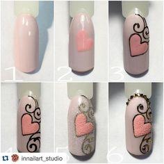 Cute Nail Art Ideas to Try - Nailschick Cute Nail Art, Easy Nail Art, Cute Nails, Pretty Nails, Nail Art Arabesque, Diy Nails, Manicure, Nail Drawing, Nagellack Design