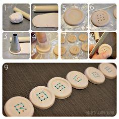 9-hole button diy