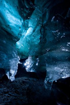 Inside an ice cave