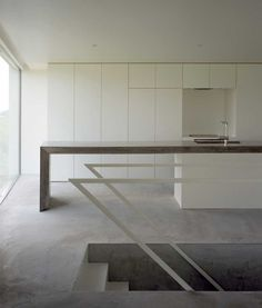 Riverbank House is the latest work from Atsushi and Mayumi Kawamoto.  This house is the best example of a  minimalist space and structure. ...