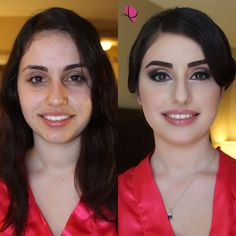 We love our bridesmaids! And especially this #beforeandafter of the lovely Hoda for her sister's big day 😍😍😍 #MakeoverMonday #makeovermagic #makeupandhair by Kay and Christopher of #kayanabeauty #kayanabeautytrends