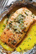 Honey Garlic Lemon Butter Salmon in Foil