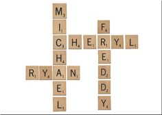 PRINTABLE Scrabble name art for when you can't find enough tiles for your project