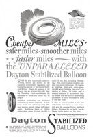 Dayton Stabilized Balloon Tire 1927 Ad Picture