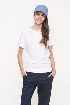 bluzka damska dziana f/f #white #blouse