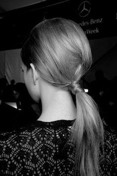 runway hair 60's mod pony