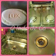 "Receita do ""LUX multiuso"" 1 lux branco (bouquet dos sonhos) , 2 colheres (sopa) de bicarbonato de sódi..."