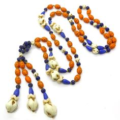 Vintage Art Deco Czech Neiger Uranium Flapper Glass Bead Sautoir | Clarice Jewellery | Vintage Costume Jewellery