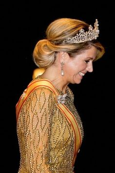 Dutch Queen Maxima arrives for a State Dinner at the Imperial Palace in Tokyo, Japan, 29.10.2014.