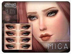 An elegant shadow for a sophisticated night time look.  Found in TSR Category 'Sims 4 Female Eyeshadow'