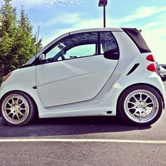 Instagram photo by @mbnashville #smartcar #fortwo #white