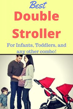 Looking for the Best Double Stroller for your Infant, Toddler or any other combo? Find out which doubles are best and most affordable! Double Stroller For Twins, Double Stroller Reviews, Best Double Stroller, Double Strollers, Baby Strollers, Best Double Pram, Double Prams, Toddler Stroller, Infant Toddler