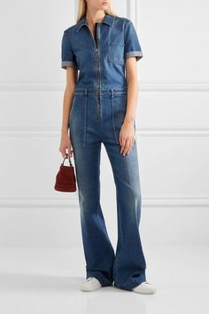Stella McCartney - Denim Jumpsuit - Mid denim - IT36
