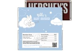 Baby Dumbo Baby Shower Candy Bar Wrapper