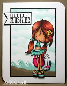 """Paper Perfect Designs by Kim O'Connell: Tiddly Inks """"Wryn Beach Babe"""""""