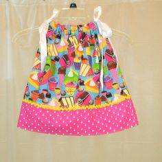 Pillowcase Dress  Sweet Tooth by LindaLuDesigns on Etsy, $18.00