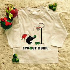 'Sprout Dunk' Long Sleeve Unisex Christmas Tee Baby Swag, Kids Z, Baby Store, Kids Wear, Sprouts, Festive, Brain, Kids Outfits, Label