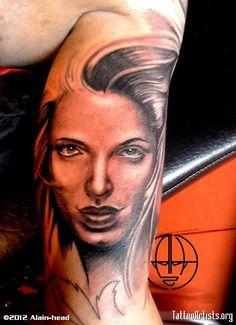 woman facetatuajelimaperualainheadtattooperu Face Tattoos For Women, Woman Face, Portrait, Headshot Photography, Female Faces, Portrait Paintings, Drawings, Portraits