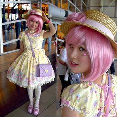 Angelic Pretty Milky Planet, Handmade Boater Hat, Angelic Pretty Ice Cream Socks