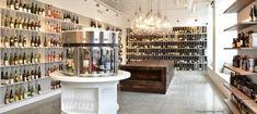 urban grape - wine tasting machine as a beacon of education.